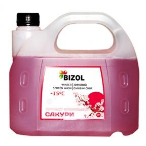 Зимний омыватель, аромат Японская Сакура - BIZOL WINTER SCREEN WASH -15C, 3Л